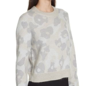RAG & BONE Mohair Leopard Crew Neck Sweater